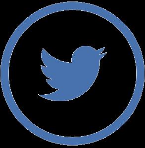 Símbolo para los medios o redes sociales - Twitter.